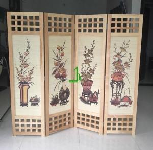 Bình phong gỗ tứ bình G14