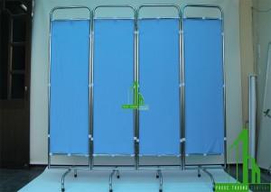Bình phong y tế khung inox không có bánh xe