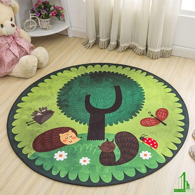 thảm trải sàn hình tròn đẹp nhất