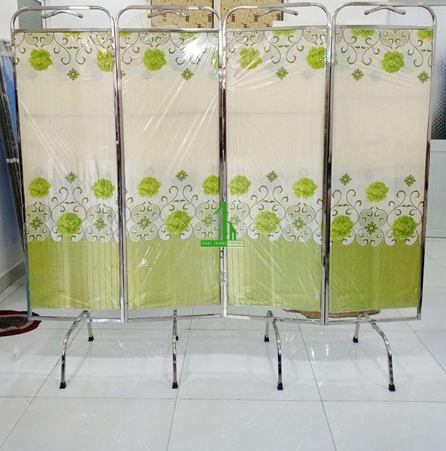 Bình phong vải khung inox